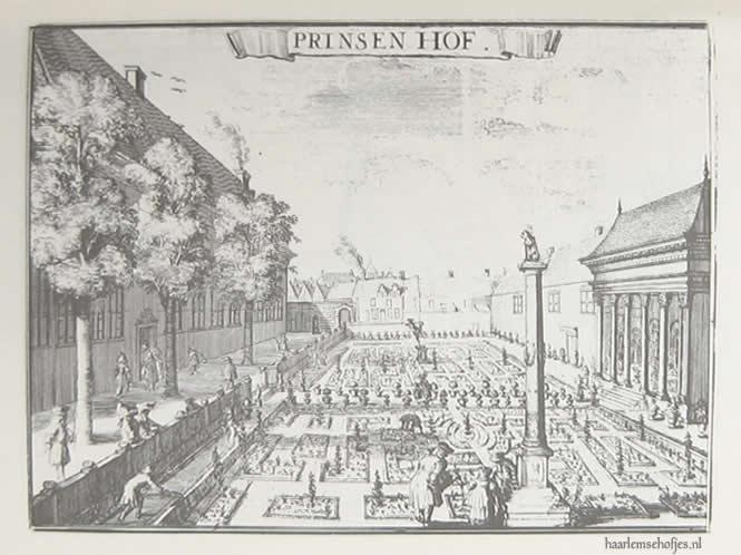 Prinsenhof Haarlem - afbeelding uit 1628